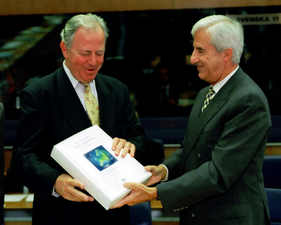 Jacques Santer and Jacques F. Poos (Luxembourg, 6 October 1997)