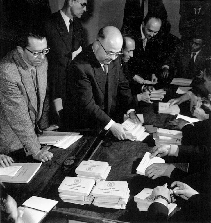 Counting of votes in the referendum on the European Statute of the Saar (23 October 1955)