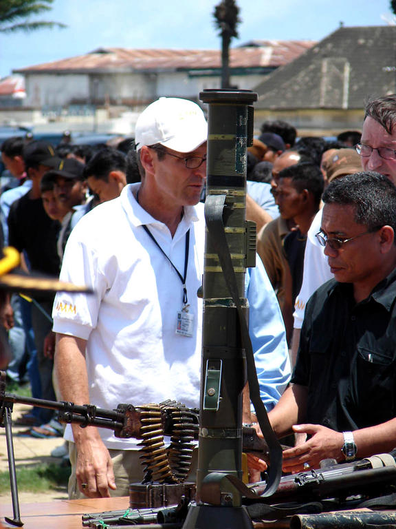First disarmament operation as part of the EU Monitoring Mission in Aceh (15 September 2005)