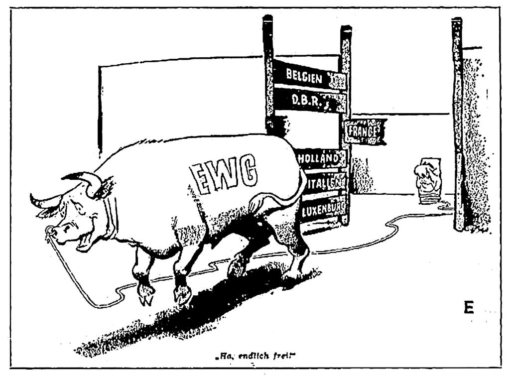 Cartoon on the Luxembourg Compromise (1 February 1966)
