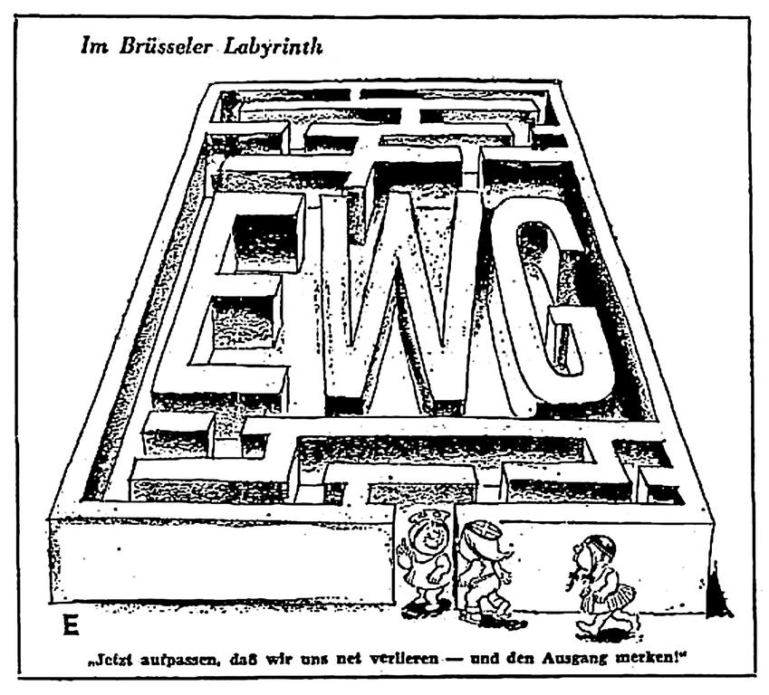 Cartoon on Austria's association with the EEC (29 July 1962)