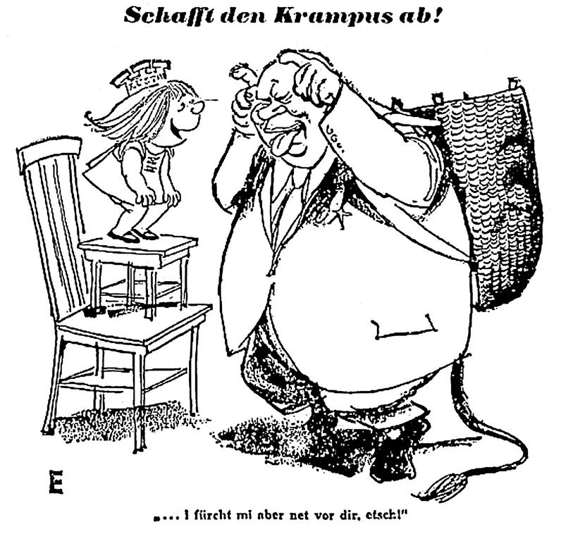 Cartoon on relations between Austria and the Soviet Union (9 December 1961)