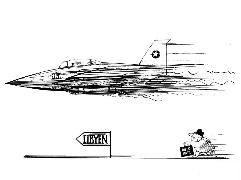 Cartoon by Hanel on European Political Cooperation (1986)