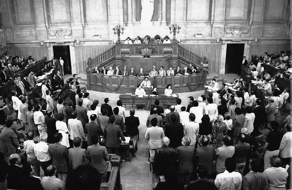 The ratification by the Assembly of the Republic of Portugal's Treaty of Accession to the European Communities (Lisbon, 10 June 1985)