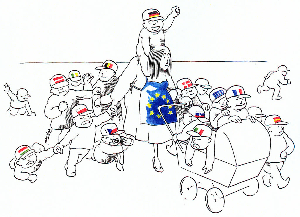 Cartoon by Matuska on the fifth enlargement of the EU (2004)