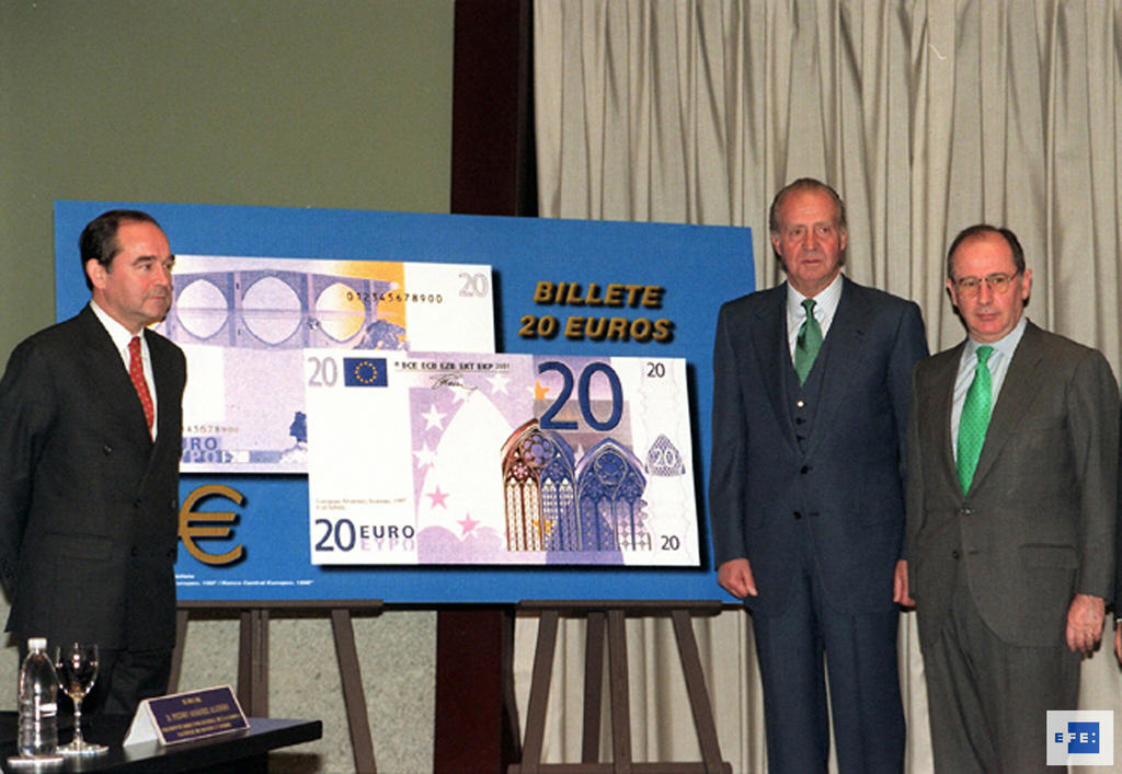 First printing of euro banknotes (Madrid, 9 December 1999)
