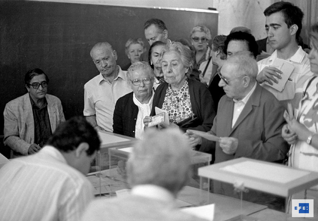 First European elections in Spain (Madrid, 10 June 1987)