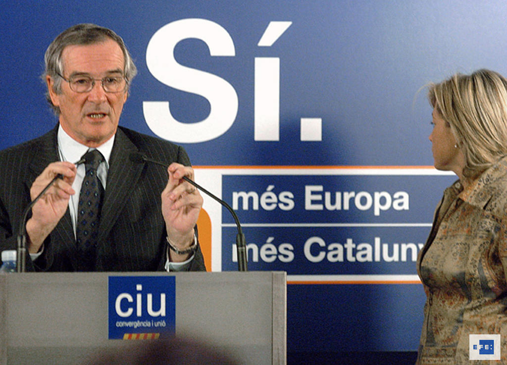 Xavier Trias supports the 'Yes' vote for the European Constitution (Barcelona, 28 January 2005)