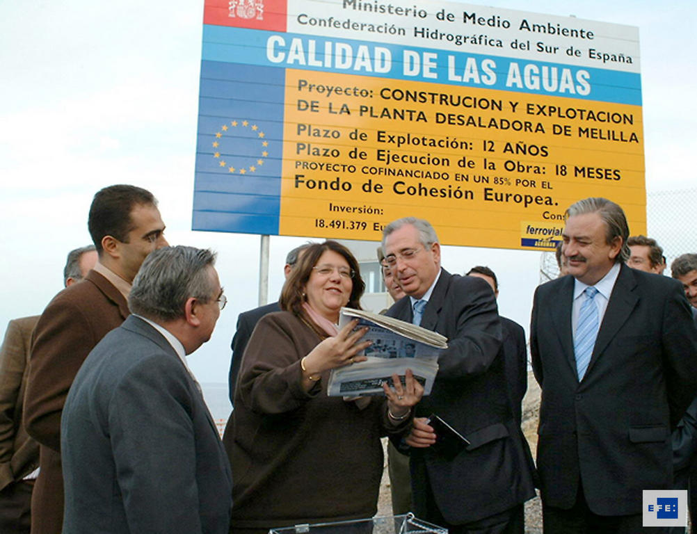 Laying of the foundation stone for a desalination plant (Melilla, 3 November 2003)