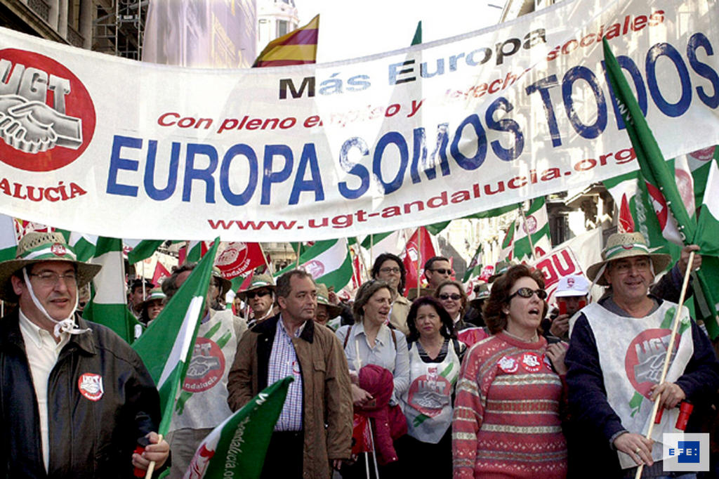 Demonstration organised by the European Trade Union Confederation (Barcelona, 14 March 2002)