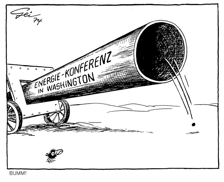 Cartoon by Geisen on the Washington Energy Conference (1974)