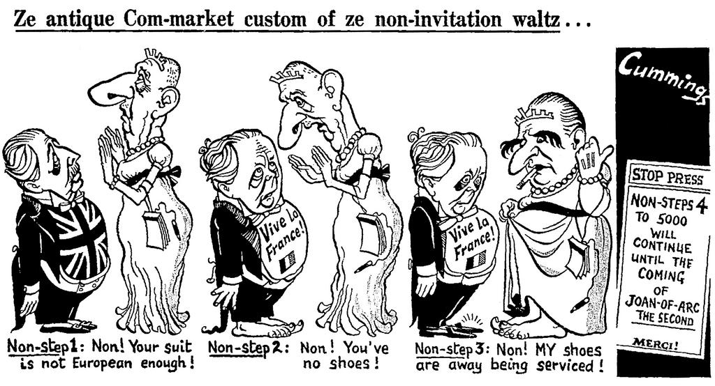 Cartoon by Cummings on the issue of the United Kingdom's accession to the EC (3 December 1969)