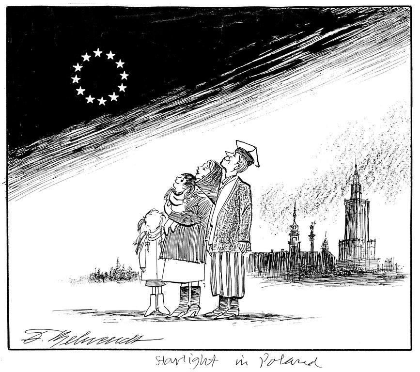 Cartoon by Behrendt on Poland's accession to the EU