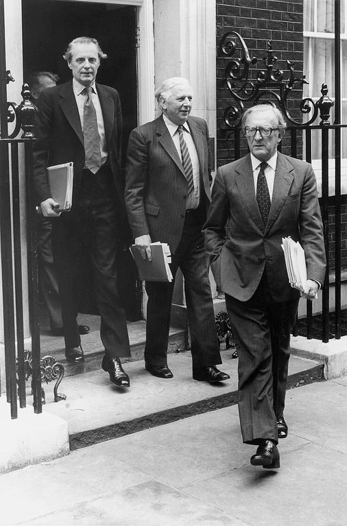 Negotiations on the British rebate: Sir Ian Gilmore, James Prior and Lord Peter Carrington (London, 2 June 1980)
