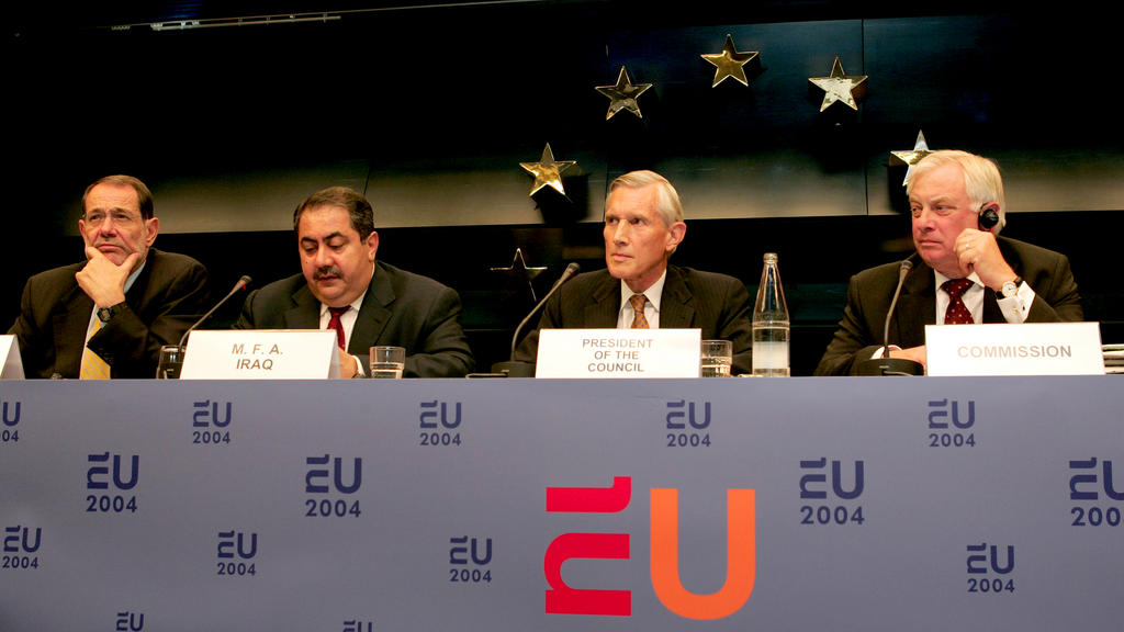 Intermediate press conference held by the Council on the future of Iraq (Brussels, 12 July 2004)
