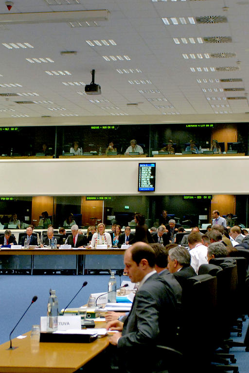 View of the conference room of the General Affairs and External Relations Council (Luxembourg, 12 June 2006)