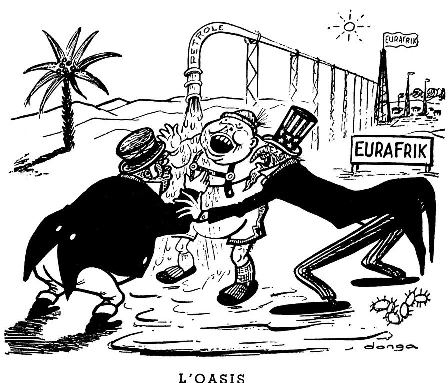 Cartoon by Donga on Eurafrica (28 March 1957)