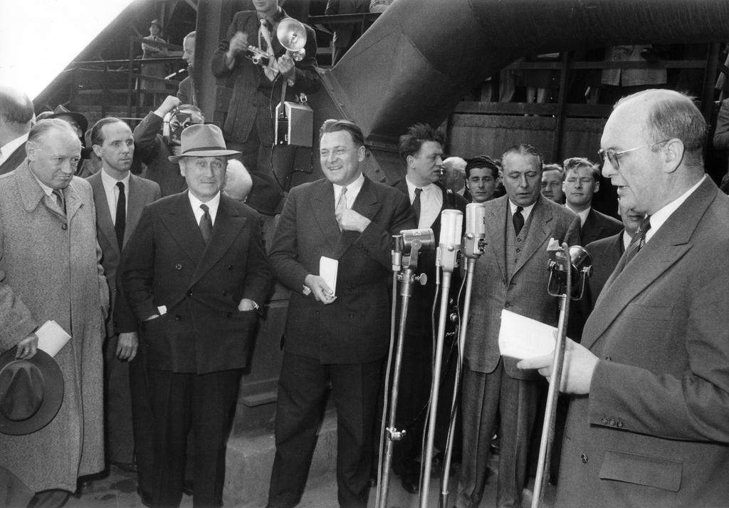 Inauguration ceremony for the common market in steel (Esch-sur-Alzette, 30 April 1953)
