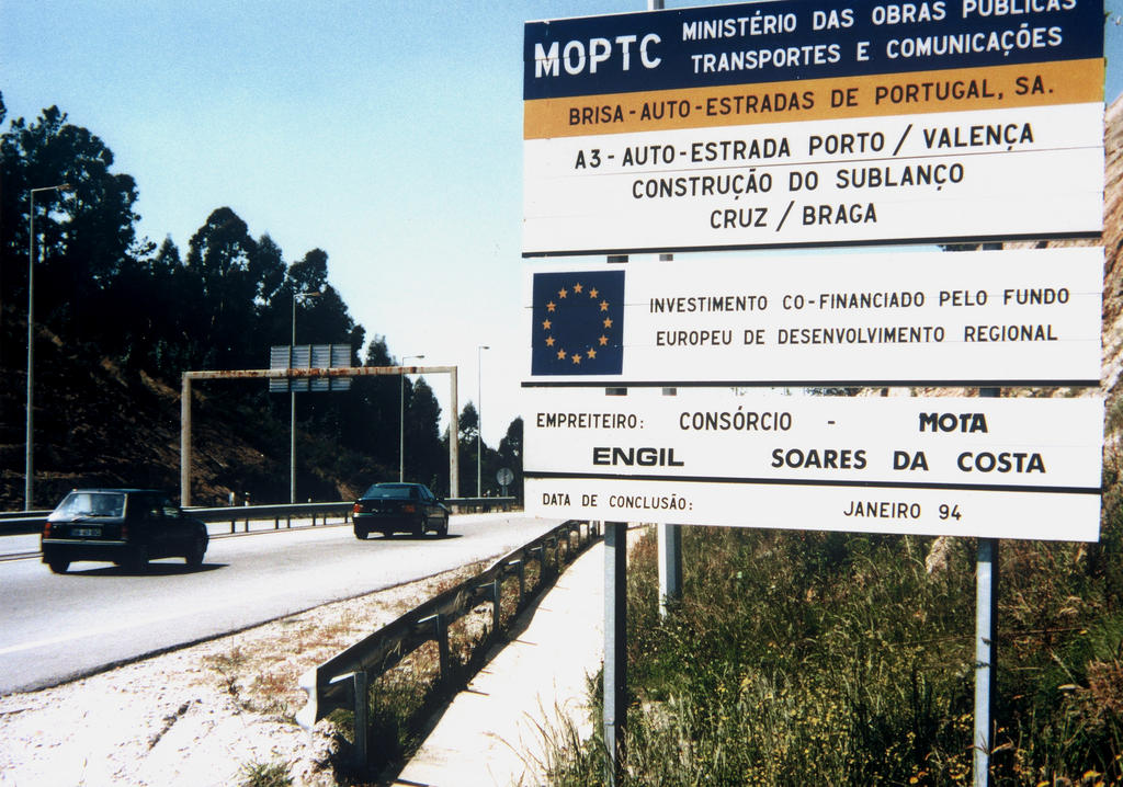 Plan for the construction of a stretch of motorway in Portugal cofunded by the ERDF (9 July 1993)