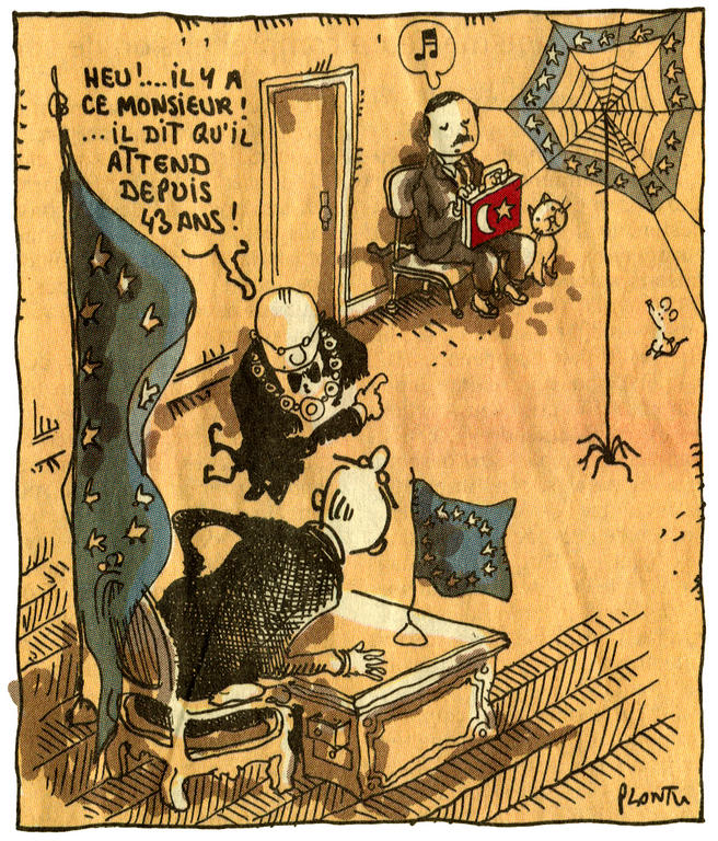 Cartoon by Plantu on the issue of enlargement of the EU to include Turkey (13 October 2005)