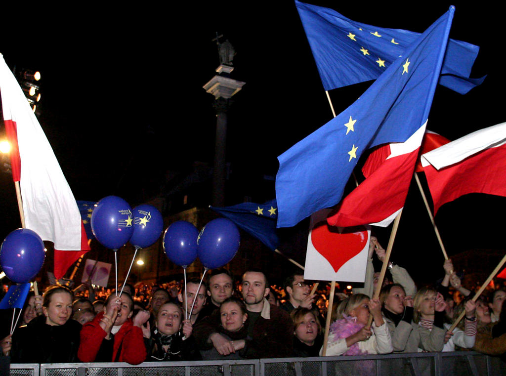 Celebrations for Poland's accession to the European Union (Warsaw, 1 May 2004)