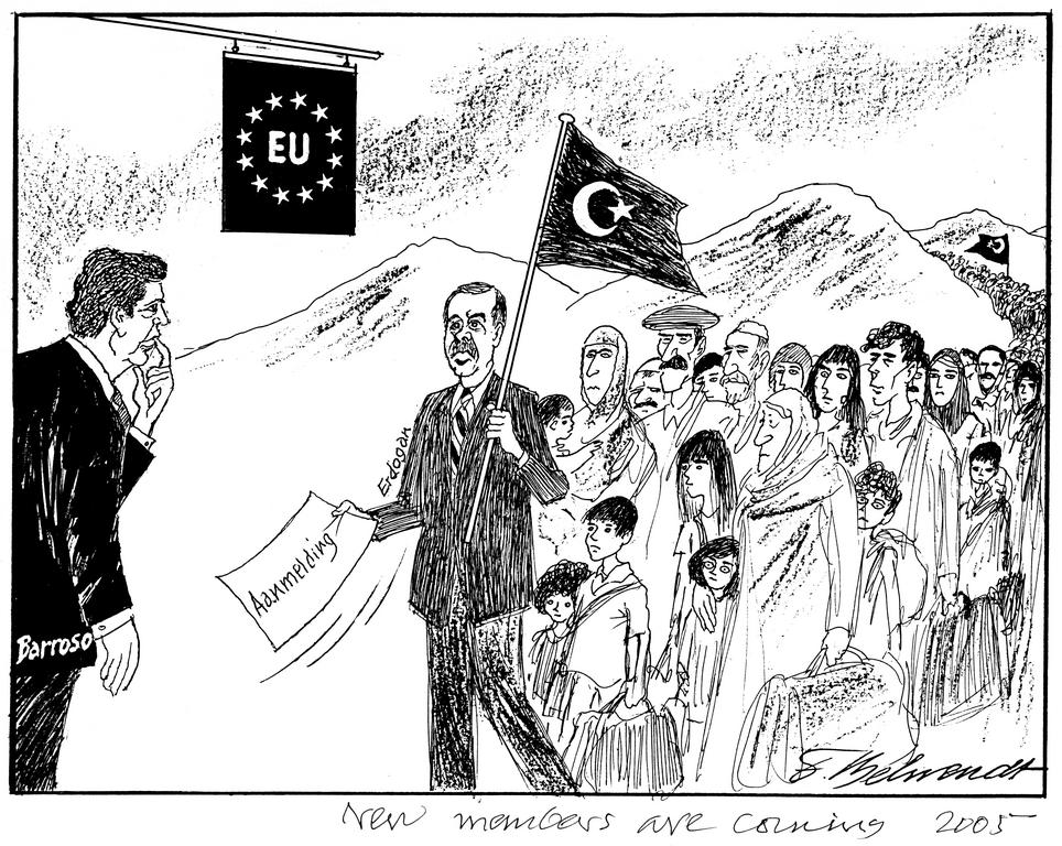 Cartoon by Behrendt on the issue of the enlargement of the EU to include Turkey (2005)