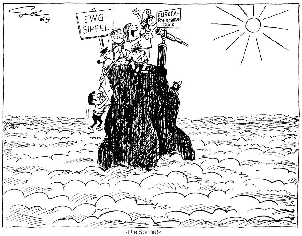 Cartoon by Geisen on the Hague summit (1969)