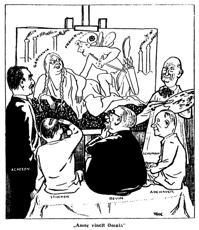 Cartoon by Roc on the Schuman Plan (20 May 1950)
