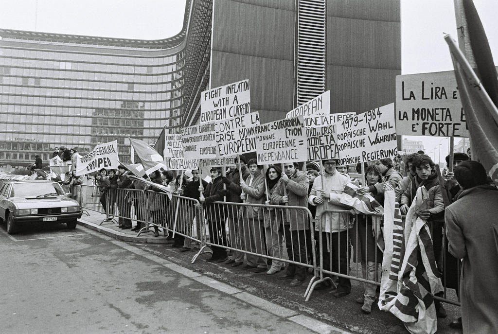 Demonstration for a single European currency (Brussels, 5 December 1978)