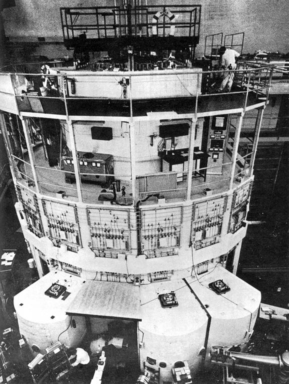 Inside view of the Petten nuclear reactor in the Netherlands