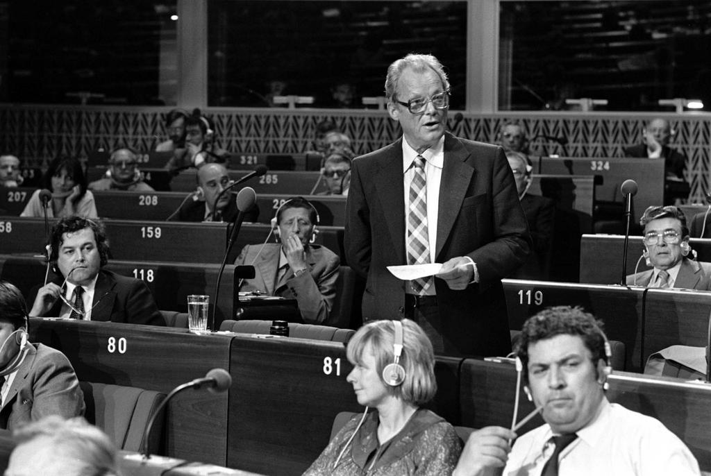 Willy Brandt au Parlement européen (1979)