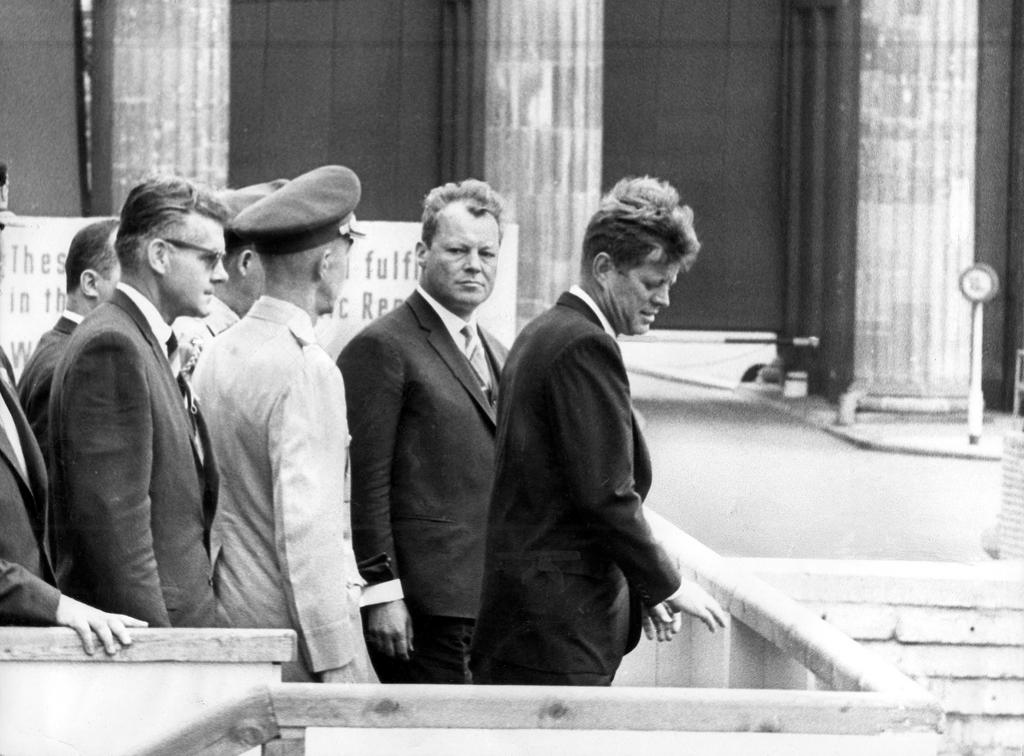 Willy Brandt and John F. Kennedy in Berlin (26 June 1963)