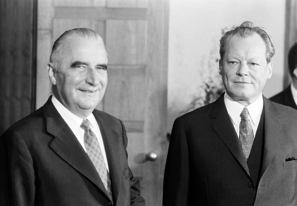 Willy Brandt and Georges Pompidou (Bonn, 3 July 1970)