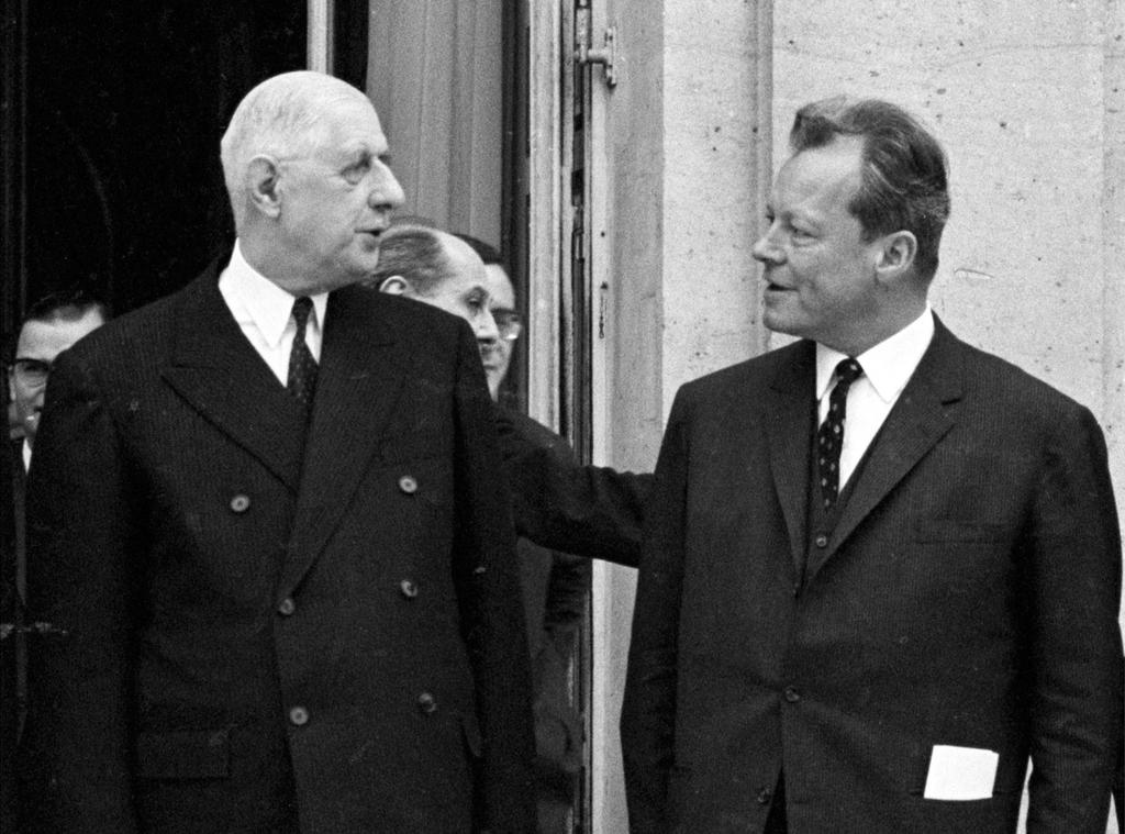Willy Brandt and Charles de Gaulle (Paris, 13 January 1967)