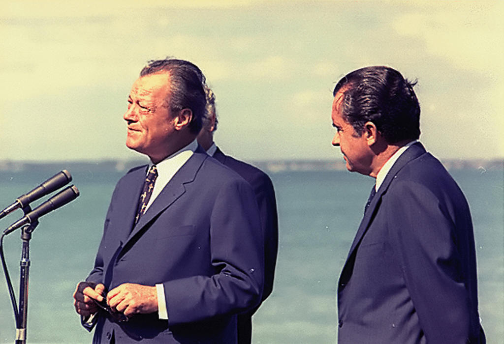Willy Brandt et Richard Nixon (Key Biscayne, 29 décembre 1971)