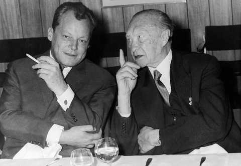 Willy Brandt et Konrad Adenauer (1961)