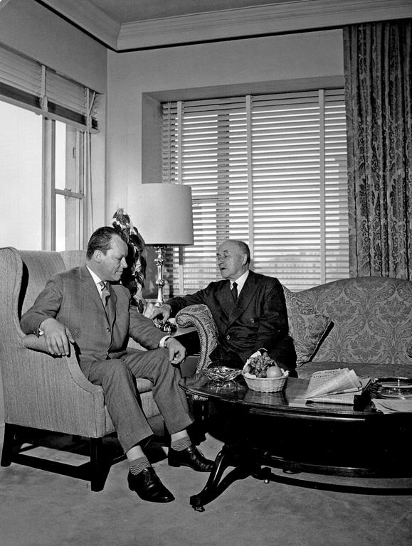 Willy Brandt and Jean Monnet (1961)