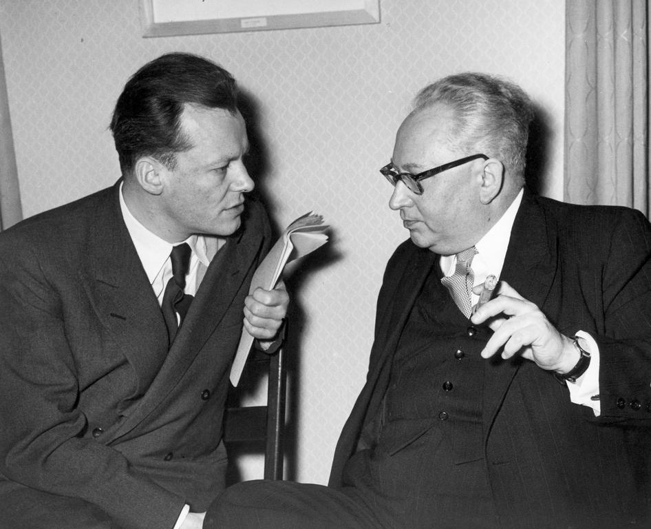 Willy Brandt et Erich Ollenhauer (1954)