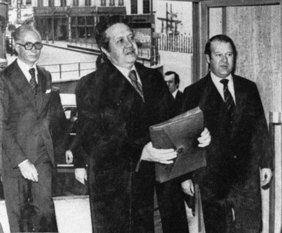Mário Soares visits the Economic and Social Committee (Brussels, 12 March 1977)