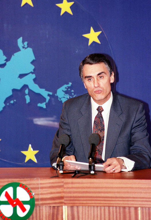 Aníbal Cavaco Silva presents the programme of the Portuguese Presidency (19 December 1991)
