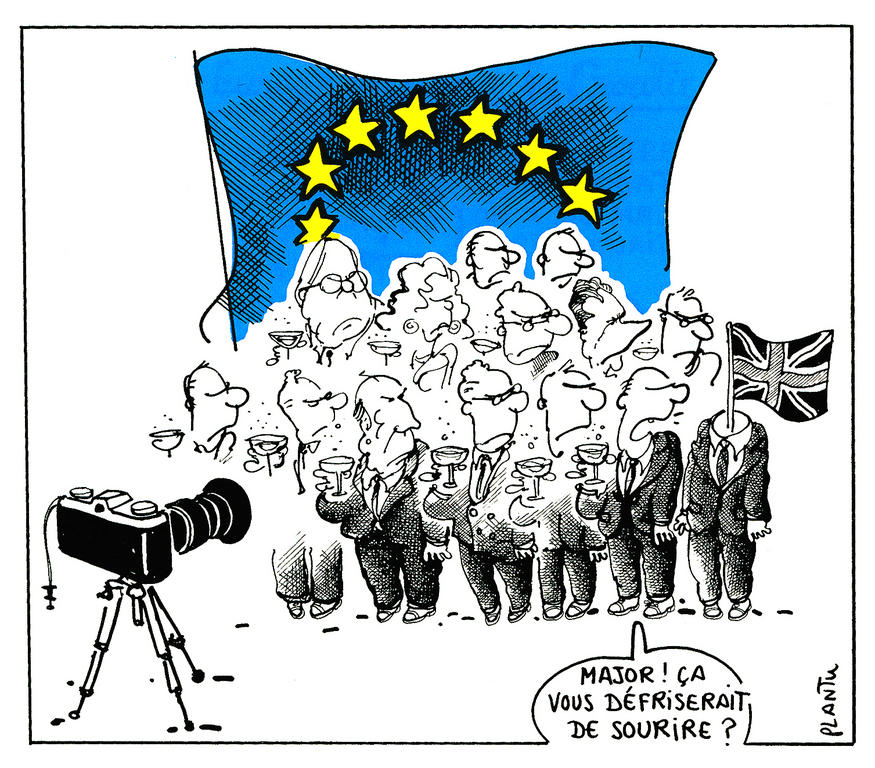 Cartoon by Plantu on the outcome of the Maastricht European Council (December 1991)