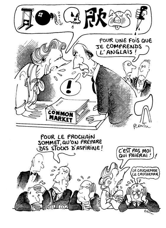 Cartoon by Plantu on the European Councils (1984)
