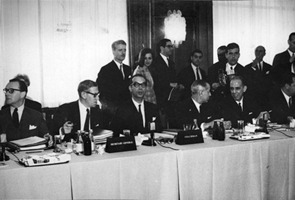 First Portuguese Delegation to EFTA (Lisbon, 27 October 1966)