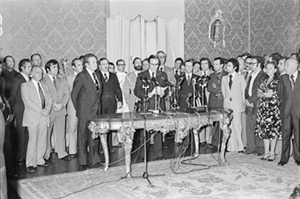 The first Portuguese Constitutional Government takes office (Lisbon, 23 July 1976)