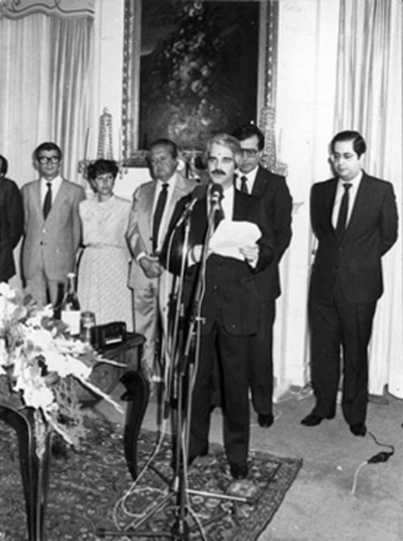 Address given by António Marta as he takes office (Lisbon, 12 July 1983)