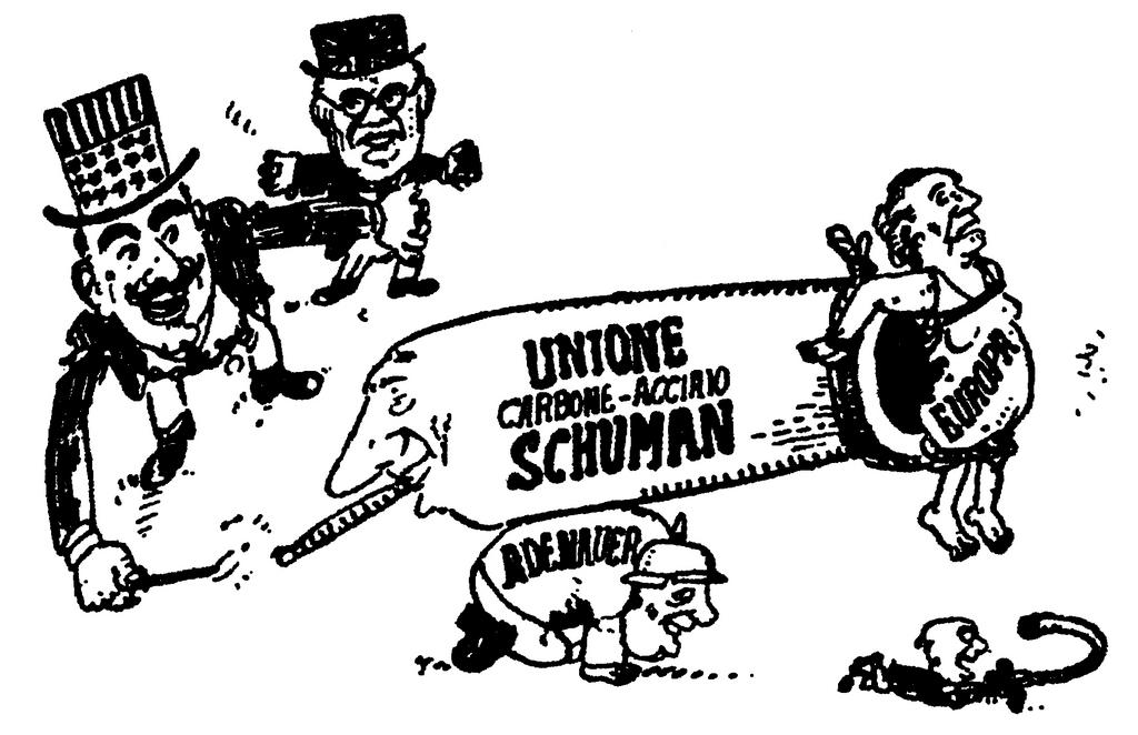 Italian cartoon on the Schuman Plan (12 May 1950)