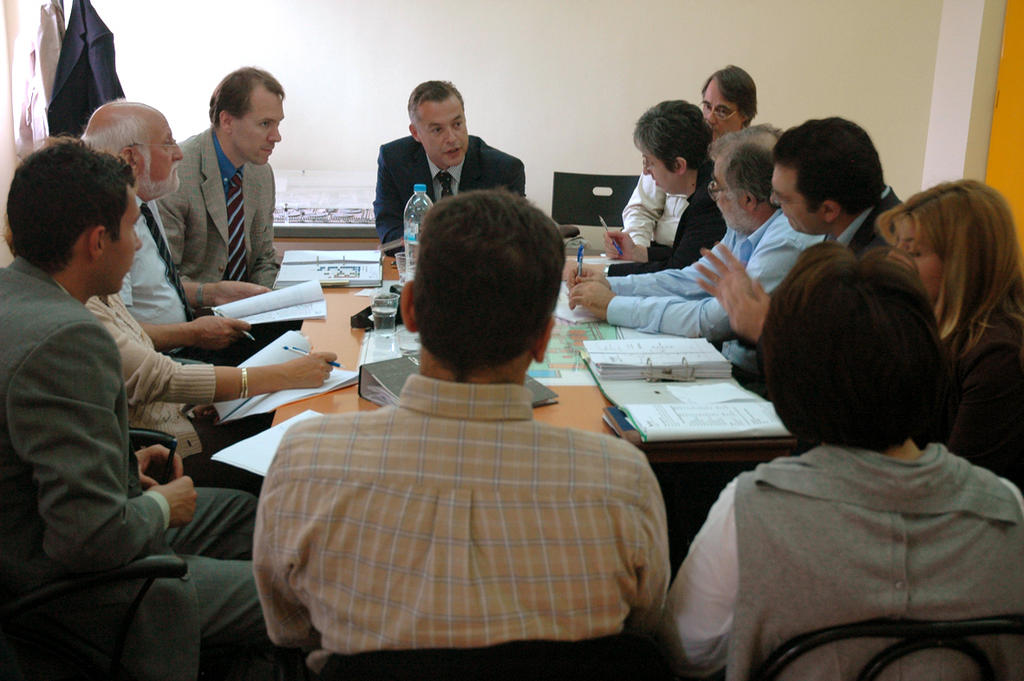 Audit mission at a water treatment plant (Thessalonica, 27 September 2007)