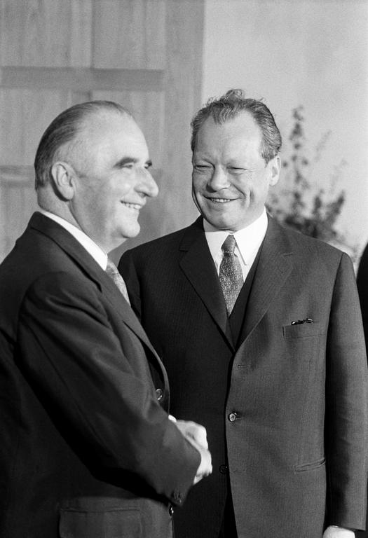 16th franco-german summit: Georges Pompidou and Willy Brandt (Bonn, 3 July 1970)