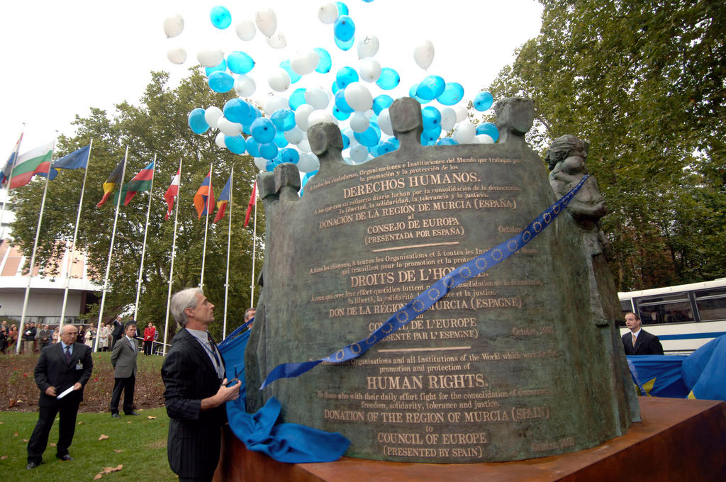 Inauguration of the monument to human rights (Strasbourg, 4 October 2005)