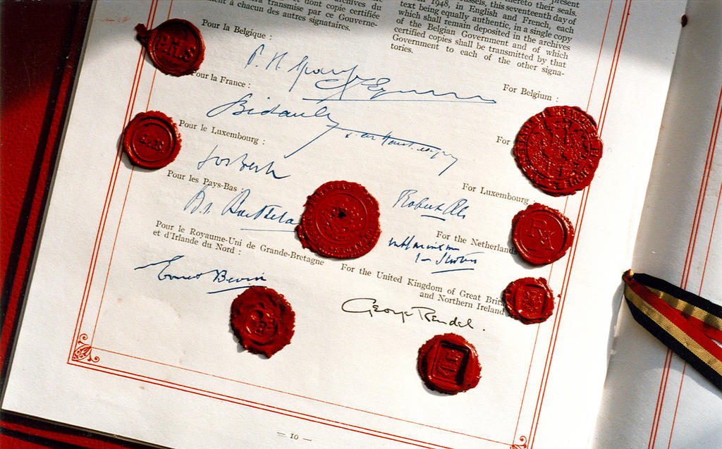 Signatures appended to the Brussels Treaty (17 March 1948)